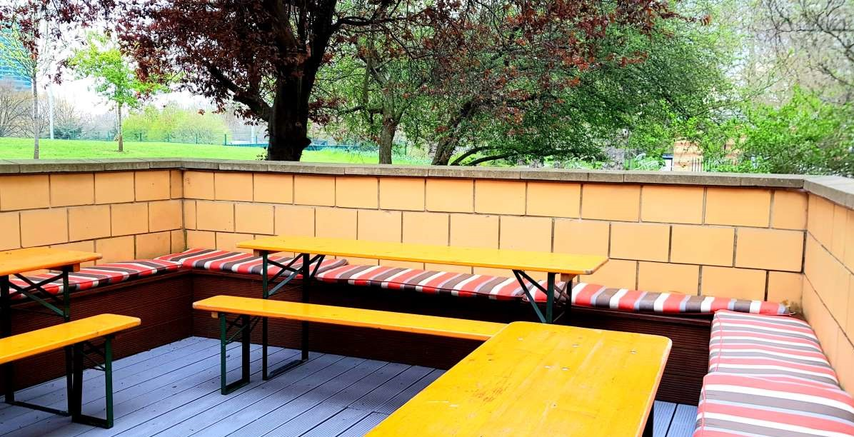 The yellow house terrace